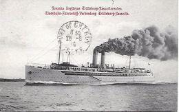 SUEDE -   1915 -   SVENSKA ANGFERJAN TRALLEBORG- SASSNITZROUTEN - Suède