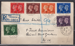 GREAT BRITAIN  1940  FDC  STAMP CENTENARY - 1902-1951 (Kings)