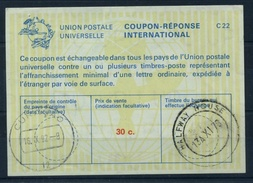 SOUTH AFRICA / AFRIQUE DU SUD La22A 30C. Int. Reply Coupon Reponse IAS Antwortschein O HALFWAY HOUSE / Redeemed CURACAO - Briefe U. Dokumente