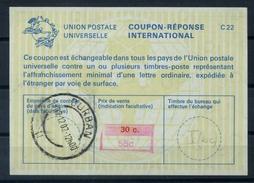 SOUTH AFRICA / AFRIQUE DU SUD  La22J 55C / 30C.  International Reply Coupon Reponse IAS Antwortschein O DURBAN 2.12.2002 - Briefe U. Dokumente
