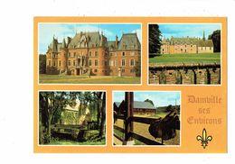 Cpm - 27 - Damville - Château De Coulonges / Chambray - Haras De Villalet Selle De Cheval - Moulin Du Coq - France
