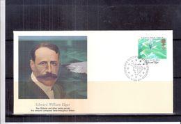 Musique - FDC Grande-Bretagne - Edward Elgar - Compositeur Et Chef D'Orchestre Britannique - Music