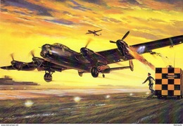 Avro Lancaster Bomber  -  Art Card  -  CPM - 1939-1945: 2ème Guerre