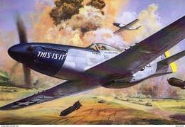 Mustang P-51D  -  Art Card  -  CPM - 1939-1945: 2ème Guerre