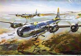 Boeing B-29 Superfortress Heavy Bomber  -  Art Card  -  CPM - 1939-1945: 2ème Guerre