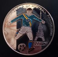 """NORTH KOREA 500 WON 1996 SILVER PROOF """"World Cup Soccer, 1998""""  Free Shipping Via Registered Air Mail - Korea, North"""