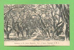 CPA  TRINIDAD  ~   Entrance To St. James Barracks - Port Of Spain  ( 1917 )  2 Scans - Trinidad