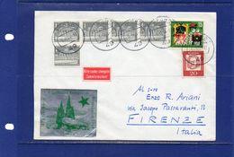 ##(YEL)POSTAL HISTORY-Germany-1964- Cover From Herford To Firenze, Esperanto Label - Esperanto