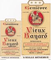 "OLNE - LIEGE - JENEVER GENIEVRE ""VIEUX BAYARD"" 0,96l.+ 0,48l. - DISTILLERIE  F.PONDCUIR - Autres Collections"