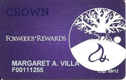 Foxwoods Casino - Ledyard, CT - CROWN Slot Card - Large Logo - Casino Cards