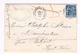 COURRIER CONVOYEUR 1880 COULOMMIERS A CRETZ - Poste Ferroviaire