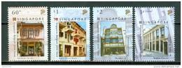 Singapore  2005  Yv  1354/1357**, Mi 1508/11**  Shophouses  MNH - Singapour (1959-...)