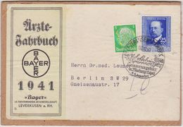 GERMANY 1940 PACKET ADDRESS LEVERKUSEN I.G. WERK (BAYER Yearbook 1941) INCL. Mi 761 - Otros