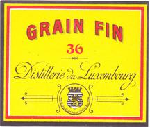 Distillerie De Luxembourg  Grain Fin 36% Genièvre. Neufchâteau  R.C.4 - Andere Verzamelingen