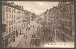 Carte Postale De 1916 ( Genève / Boulevard James Fazy ) - GE Geneva