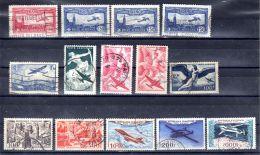 Timbres Pour La Poste Aérienne; YT 5, 6, 9, 16, 17, 18, 24, 27, 30, 31 + 33 ,oblitéré ; Lot 49402 - 1927-1959 Oblitérés