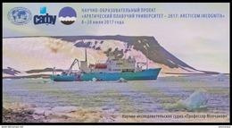 "RUSSIA 2017 ENTIER POSTCARD 277/5 SHIP ""Professor Molchanov"" SCIENCE RESEARCH ARCTIC POLAR NORD SCHIFF BATEAU TRANSPORT - Navires & Brise-glace"