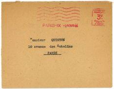 EMA PARIS 1946 Machine Havas A.0866 - Marcophilie (Lettres)