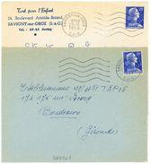 SAVIGNY-SUR-ORGE  1957 Et 1958 Secap 5 LO - Marcophilie (Lettres)