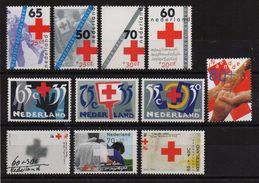 Netherlands , Red Cross, 3 Complete Sets, MNH. Cv 9,50 Euro - Rotes Kreuz
