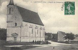 CARTE POSTALE ORIGINALE ANCIENNE : CAUVIGNY LA CHAPELLE DE CHATEAU ROUGE  ANIMEE OISE (60) - France