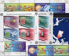 50 Jahre CEPT 2006 CRNA GORA Block 2 A/B+3,Bosna 419/2,ER+ZD ** 167€ Karte M/s Maps Blocs S/s Flag Sheets Bf EUROPA - Stamps
