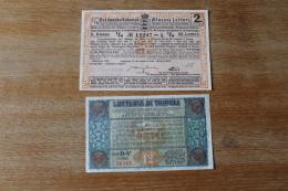 2 Billets De Loterie    Dont Loterie Coloniale Danoise Et Lotteria Di Tripoli - Billetes De Lotería