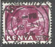 KENYA 1963 INDEPENDENCE INDIPENDENZA INDEPENDANCE RIVETER CENT 15c USATO USED OBLITERE' - Kenia (1963-...)
