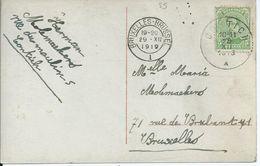 Fantasiekaart Met OCB 137 - Afstempeling CONTICH - 1915-1920 Albert I
