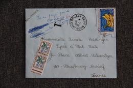 Lettre De DOUALA à STRASBOURG ( Timbres Taxes). - Covers & Documents