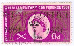 GRAN BRETAGNA, GREAT BRITAIN, CONFERENZA COMMONWEALTH, 1961, FRANCOBOLLI USATI   Yvert Tellier 365..Scott 385 - Gebraucht