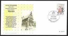 1988 - NEDERLAND - Cover (R) + SG 1411 + WOERDEN (first Day) - Period 1980-... (Beatrix)