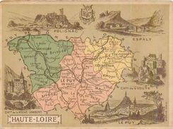 CHROMO Librairie Hachette Département De La Haute-Loire (43) Espaly Polignac Brioude Le Puy-en-Velay Yssingeaux Langeac - Autres