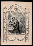DOODSPRENTJE - GRAVURE : JUFFROUW JOANNA DE COEN : ZOTTEGEM - GEND 27 JUNY 1842 OUD 79 J -( ST.ANTONIUS ) 2 AFBEELDINGEN - Overlijden