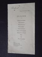 CANY-BARVILLE (Seine-Maritime) - MENU De COMMUNION (?) De Richard - 23 Avril 1946 - Déjeuner - A Voir ! - Menus