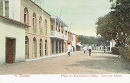 CPSM  Praça Do Governador Mello - Uma Rua Lateral - Sao Tome And Principe