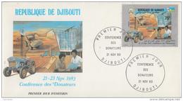 Enveloppe  FDC  1er  Jour   DJIBOUTI    Conférence  Des  Donateurs   1983 - Djibouti (1977-...)