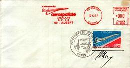 ENVELOPPE 1er JOUR ..1977..PARIS..AEROPOSTALE..CONCORDE - FDC