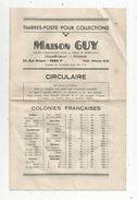 Publicité , Timbres Poste Pour Collections , Maison GUY , Paris ,6 Pages , Circulaire ,  Frais Fr : 1.45 E - Advertising