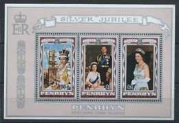 Penrhyn Bloc N°4** (MNH) 1977 - Silver Jubilee D'Elizabeth II - Penrhyn