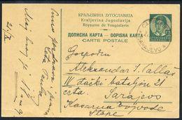 YUGOSLAVIA 1935 King Peter 0.75 D.postcard  Used.  Michel P71a - Enteros Postales