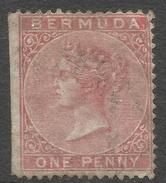 Bermuda. 1865-1903 Queen Victoria. 1d Used. Crown CC W/M SG 1 - Bermuda