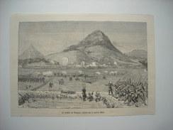 GRAVURE 1884. LES AFFAIRES DU TONKIN. LA POSITION DE PRUNGSON, ENLEVEE PAR LE GENERAL MILLOT. - Prints & Engravings