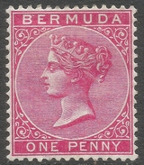 Bermuda. 1883-1904 Queen Victoria. 1d MH. Crown CA W/M SG 24a - Bermuda