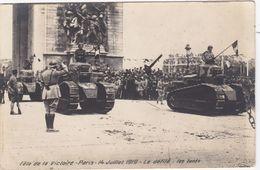 CPA Dept 75 FÊTE DE LA VICTOIRE Paris 14 Juillet 1919 Le Défilé Les Tanks Renault FT 17 - Weltkrieg 1914-18