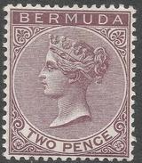 Bermuda. 1883-1904 Queen Victoria. 2d MH. Crown CA W/M SG 26a - Bermuda