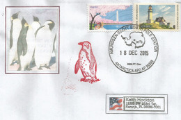 Amundsen-Scott South Pole (Geographic South Pole), Lettre 2015 Adressée En Floride - Stamps