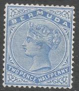 Bermuda. 1883-1904 Queen Victoria. 2½d MH. Crown CA W/M SG 27b - Bermuda