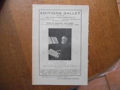 EDITIONS GALLET PARIS 6 RUE VIVIENNE ET GALERIE VIVIENNE DE 62 A 72 CATALOGUE 16 PAGES - Publicités