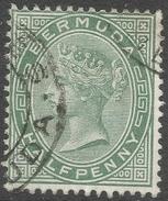Bermuda. 1883-1904 Queen Victoria. ½d Used. Crown CA W/M SG 21a - Bermuda